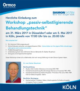"""Workshop """"passiv-selbstligierende Behandlungstechnik"""" – Köln"""
