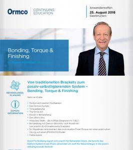 Bonding, Torque & Finishing